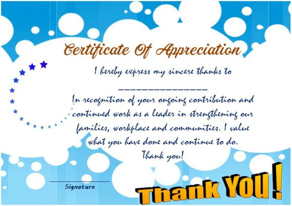 Thank You Certificate Template 25 Templates For Free Use Demplates