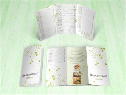 Green Swirls tri-fold Brochure