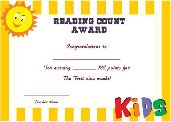 Reading Count Award 1