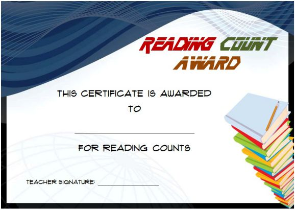 Reading Count Awards 1