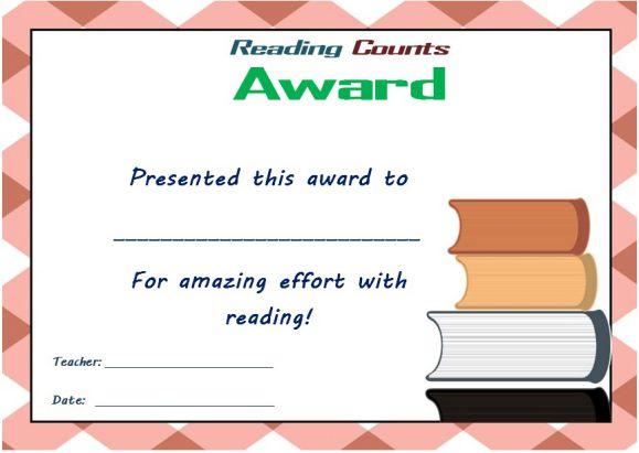 Reading Counts Award 1