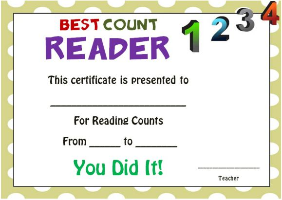 Reading Counts Awards 1
