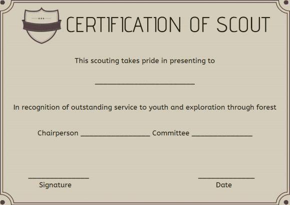 Boy Scout Certificate Of Appreciation Template