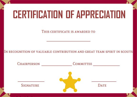 scout certificates template12 free printables in word