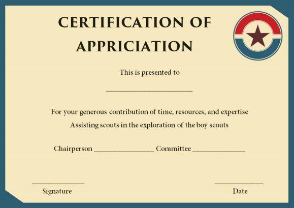 Boy Scout Rank Advancement Card