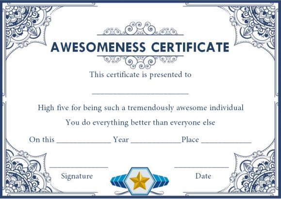 Certificate of awesomeness 10 stunning templates for Certificate of awesomeness template