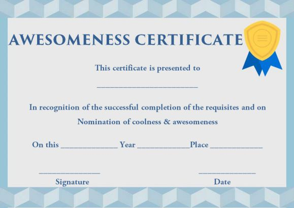 Certificate of Awesomeness: 10 Stunning Templates completely ...