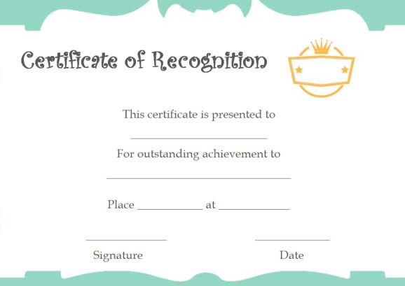certificate of recognition as facilitator