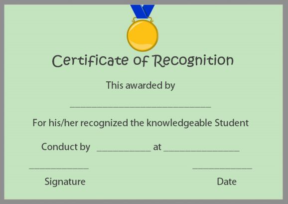 Certificate of recognition templates 30 best ideas and free 5 reasons you can give out certificate of recognition for sports yelopaper Images