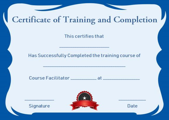 Certificate Of Completion 22 Templates In Word Format Demplates
