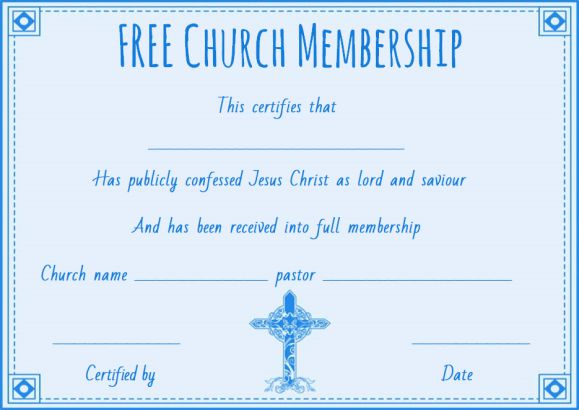 Church Membership Card Template from demplates.com
