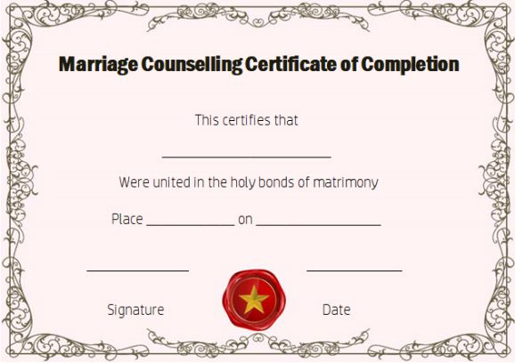 certificate of completion 22 templates in word format