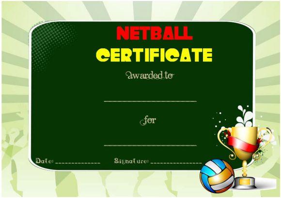 Funny Netball Certificate