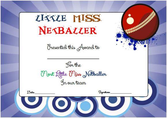 Little Miss Netball Award