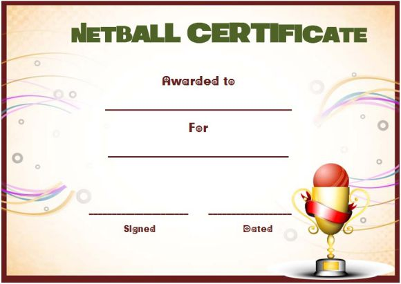 20 Netball Certificates Very Professional Certificates To Recognize