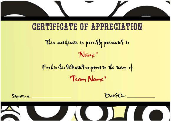 Netball Certificate Of Appreciation Template