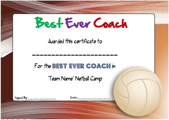 Netball Coaching Certificate