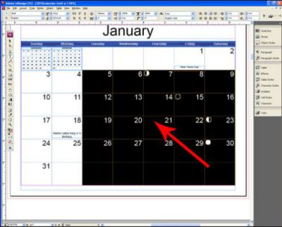 2018 Calendar Indesign