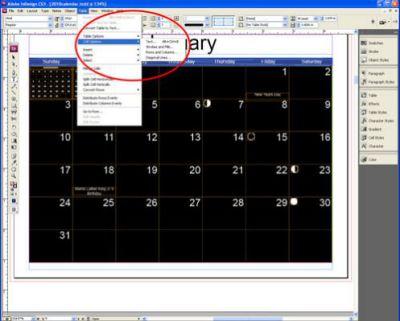 2018 Calendar Indesign template