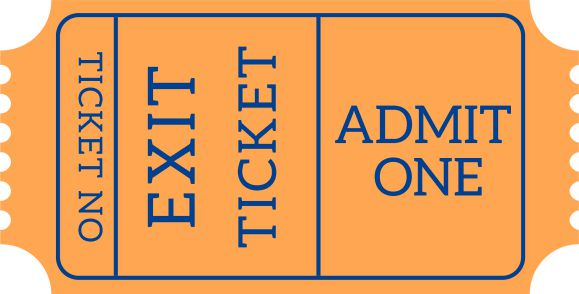 Admit One Exit Ticket Template