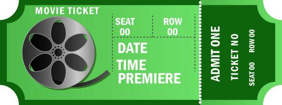 Admit One Movie Ticket Template Free