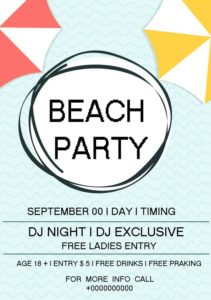 Beach DJ Night Party