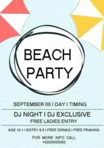 Beach DJ Night Party