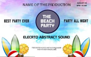 Beach Party Summer Template