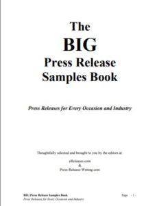 Big Press Release Samplebook