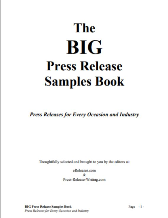 sample book press releases