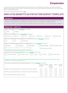 CSE Employee Benefits Survey