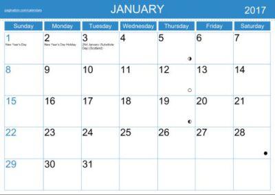 Calendar Unicode Block
