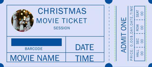 Christmas Movie Ticket Template