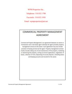 Commercial Property Agreement