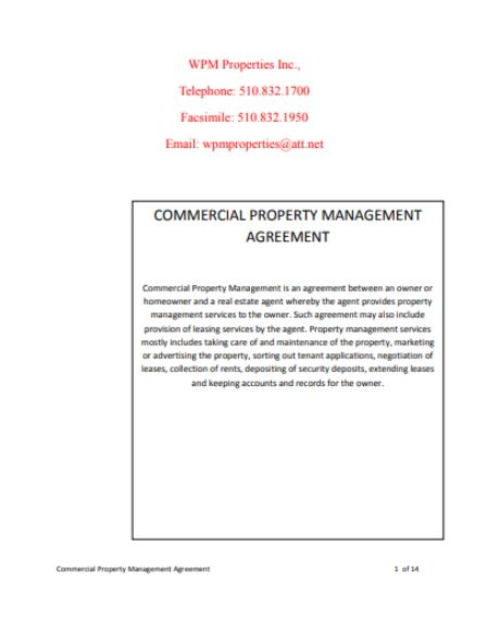 32 Property Management Agreement Templates: For Residential And Commercial  Property Needs