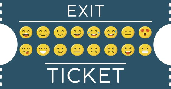 Emoji Exit Tickets