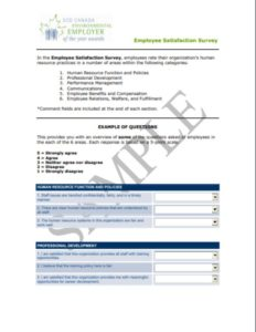 Employee Survey Example
