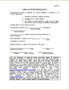 Employment Verification