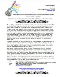 Event Press Release