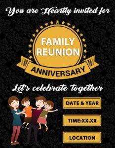 Family Reunion Anniversary