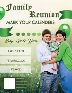 Family Reunion Calendars