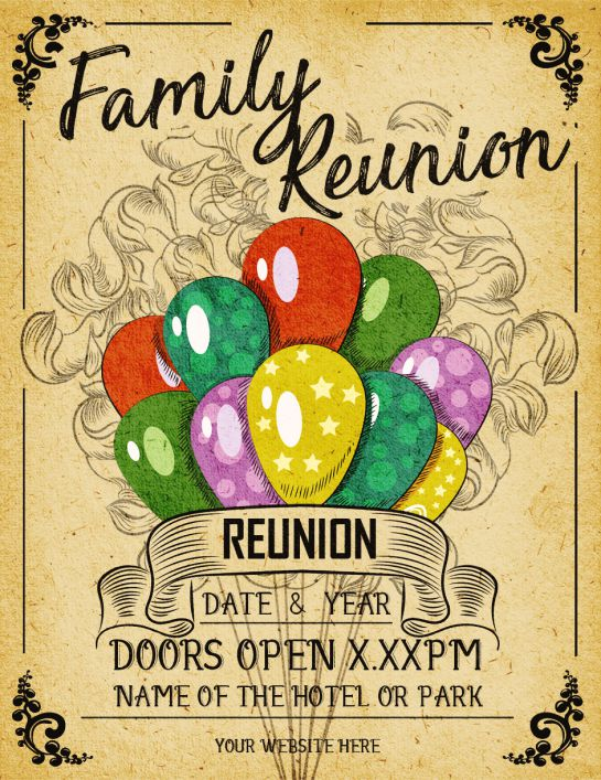 Family Reunion: 10 Templates (Easy to Customize, Download and Print ...