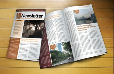 Free News Letter Template INDD