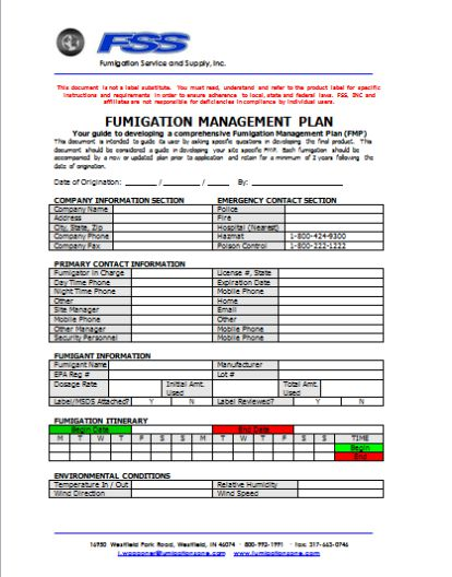 pest management plan template - fumigation proposal 6 templates to showcase your pest