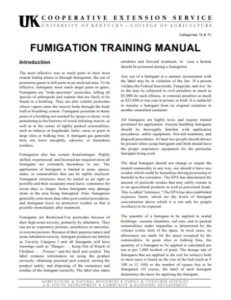 Fumigation Manual