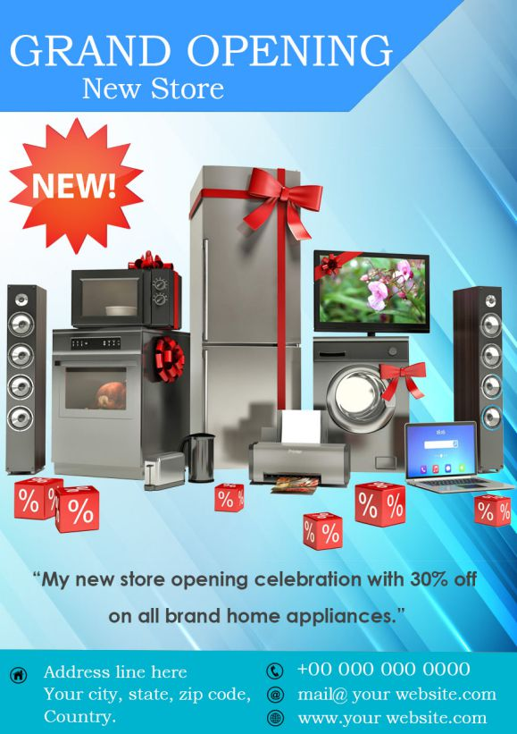 Grand Opening of New Store Flyer