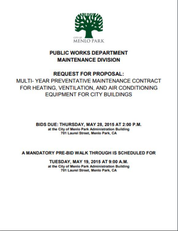 HVAC RFP Preventative Maintenance