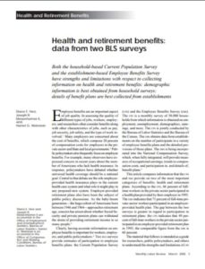 Health and Retirement Benefits