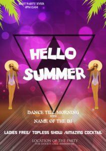 Hello Summer Template