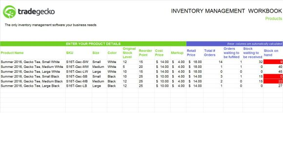 Inventory Spreadsheet Template For Numbers